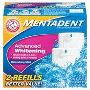 Mentadent Advanced Whitening Refreshing Mint 5.25 Oz Refills Toothpaste