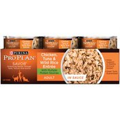 Pro Plan Cat Wet Savor Adult Chicken Tuna & Wild Rice Entree in Sauce Cat Food