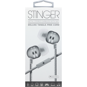 Sentry Pro Earbuds with Mic, Metal Stereo, Deluxe Tangle-Free Cord