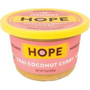 Hope Foods Hummus, Organic, Thai Coconut Curry