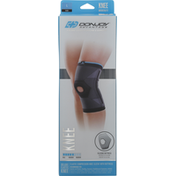 Donjoy Knee Compression, Deluxe Elastic, Moderate, Black, L