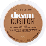 Maybelline Cushion Fresh Face Liquid Foundation On The Go Caramel