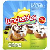 Lunchables Cinnamon Roll DIppers Meal Kit with Frosting & Rasins