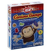 IGA Fruit Flavored Snacks, Curious George