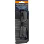 Foster Grants Glasses Brandon w/ Bonus Case + 1.75