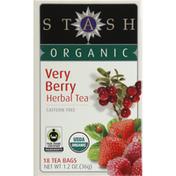 Stash Tea Herbal Tea, Very Berry, Caffeine Free, Bags