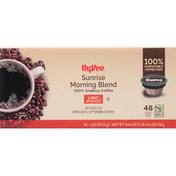 Hy-Vee Coffee, Single Serve Pods, Light, Sunrise Morning Blend