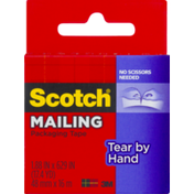 Scotch Mailing Packaging Tape Tear By Hand