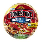 Tombstone Double Top *2X Total Meat Toppings As Our Original Supreme Pizza  Supreme Sausage, Pepperoni, Peppers, Black Olives, Onions Pizza