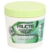 Garnier Fructis Hair Mask, 1 Minute, Hydrating Treat, Plus Aloe Extract