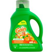 Gain Aroma Boost Liquid Laundry Detergent, Island Fresh