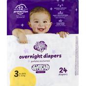 Always My Baby Diapers, Overnight, 3 (16-28 lb)