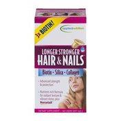 Applied Nutrition Longer Stronger Hair & Nails Dietary Supplement Liquid Soft Gels - 60 CT