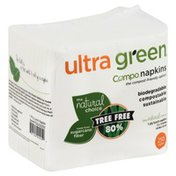 Ultra Green Napkins, Lunch, Compo, 1 Ply