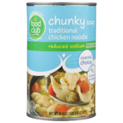 Food Club Reduced Sodium Traditional Chicken Noodle Chunky Soup