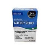 Best Choice 24 Hour Indoor And Outdoor Allergy Relief Non-drowsy Loratadine 10 Mg / Antihistamine Tablets