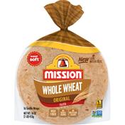 Mission Tortilla Wraps, Whole Wheat, Super Soft, Fajita, Original