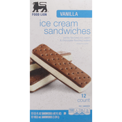 Food Lion Ice Cream Sandwiches, Vanilla,