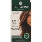 Herbatint Haircolor Gel, Permanent, Light Chestnut 5N