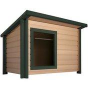 New Age Pet Medium Beige Rustic Lodge Style Dog House