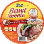 Paldo Soup, Bowl Noodle, Hot & Spicy Flavor