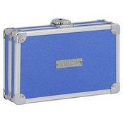Vaultz Pencil Box, Locking, Metallic Blue