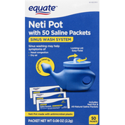 Equate Neti Pot, with Saline Packets