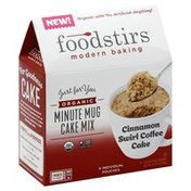 Foodstirs Cake Mix, Organic, Cinnamon Swirl Coffee, Minute Mug