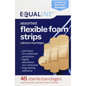 Equaline Bandages, Adhesive, Flexible Foam Strips, Assorted