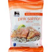 Food Lion Pink Salmon, Skin On, Boneless Fillets, Bag