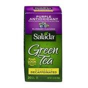 Salada Naturally Decaffeinated Purple Antioxidant Green Tea Bags Blueberry Flavored - 20 CT