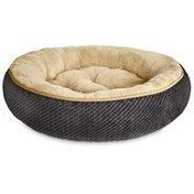 "Petco Textured Round Cat Bed in Grey, 20"" Diameter"