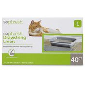 So Phresh Large Unscented Ds Cat Litter Box Liners
