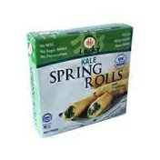 Lucky Kale Spring Rolls With Traditional Sauce