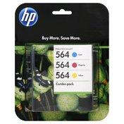 Hewlett Packard Ink Cartridges, Photosmart, Combo-Pack, Cyan 564, Magenta 564, Yellow 564