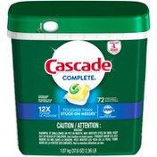 Cascade Complete ActionPacs Dishwasher Detergent, Lemon Scent Dish Care