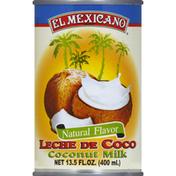El Mexicano Coconut Milk, Natural Flavor