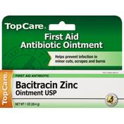 TopCare Bacitracin Zinc, First Aid Antibiotic, Ointment USP