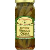 Joe Gambinos Okra, Spicy, Whole