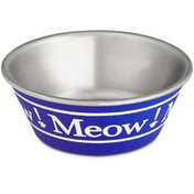 Harmony Blue Meow Stainless Steel Cat Bowl 1 Cup