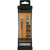 ToughTested Cable, Durable Braided, 6 Feet