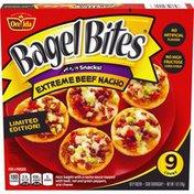 Bagel Bites Extreme Beef Nacho Mini Bagels Frozen Pizza Snacks