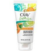 OLAY Fresh Effects Olay Fresh Effects Clear Skin Acne Hater Deep Scrub Salicylic Acid Acne Treatment Deep Scrub 150ml (5.0 FL. OZ.)  Female Skin Care