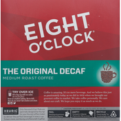 Eight O'Clock Coffee Coffee, Medium Roast, The Original Decaf, K-Cup Pods, Value Pack, 32 Pack