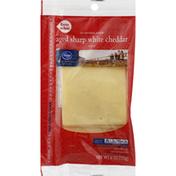 Kroger Cheese Slices, Aged Sharp White Cheddar