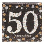 Amscan Beverage Napkins, Sparkling Celebration 50, 2-Ply