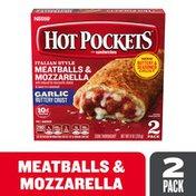 Hot Pockets Italian Style Meatballs & Mozzarella Garlic Buttery Crust Frozen Snacks