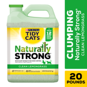 Purina Tidy Cats Clay, Clumping, Multi Cat Litter, Naturally Strong Clean Lemongrass Scent