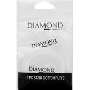 Diamond Cosmetics Cotton Puffs, Satin