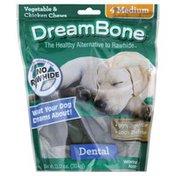DreamBone Vegetable & Chicken Chews, Dental, Medium